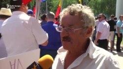 Reacții ale manifestanților la adoptarea votului mixt