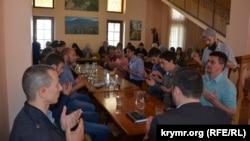 На встрече «Крымской солидарности» в Бахчисарае, 29 апреля, 2017 года