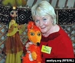 Надежда Майбо, директор алматинского театра кукол «Зазеркалье». Алматы, октябрь 2011 года.