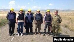 Мониторинг миссии ОБСЕ на линии соприкосновения с участием сопредседателей Минской группы ОБСЕ (архив)