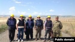 Сопредседатели Минской группы ОБСЕ при осуществлении мониторинга линии соприкосновения (архив)