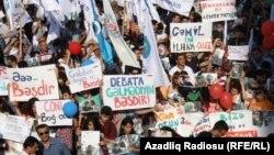 Ադրբեջան - Ընդդիմության հանրահավաքը Բաքվում, 22-ը սեպտեմբերի, 2013թ.