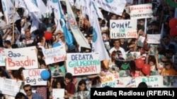 Ընդդիմության հանրահավաքը Բաքվում, 22-ը սեպտեմբերի, 2013