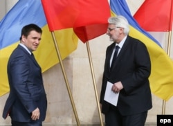 Міністр закордонних справ України Павло Клімкін з польским колегою Вітольдом Ващиковським
