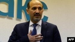Сирия оппозиция кеңесінің жетекшісі Ахмад Жарба.