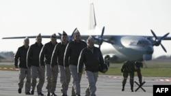 Ruski piloti prilikom povratka iz Sirije