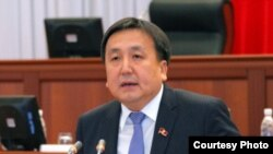 The speaker of the Kyrgyz parliament Asylbek Jeenbekov