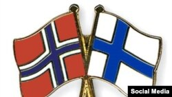 Норвегия һәм Финляндия байраклары