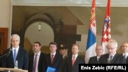 Тадиќ и Јосиповиќ, на прес конференција во 2010