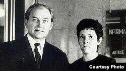 Виктор Федосеев с женой Рахиль Рубиной (Алей Федосеевой)
