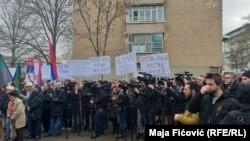 Protest u Severnoj Mitrovici