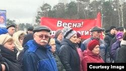 Митинг, посвященный проблемам ЖКХ в Сосновом Бору