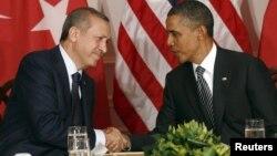 Премьер-министр Турции Реджеп Эрдоган (слева) и президент США Барак Обама