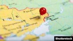 Украина картасындағы Донецк аймағы. (Көрнекі сурет)