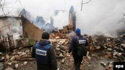 Спостерігачі ОБСЄ на Донбасі, архівне фото