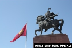 A monument to Manas, which was unveiled in Bishkek in 2011 to mark 20 years of Kyrgyz independence. (file photo)