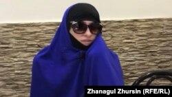 Gazagystanyň Siriýadan çykarylan raýaty Zarina.