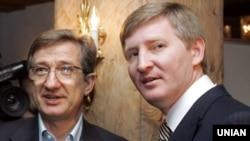 Сергій Тарута, який навесні 2014 року очолював Донеччину (ліворуч) і Рінат Ахметов