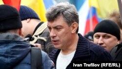 """Борис Немцов на """"Марше мира"""" в марте 2014"""
