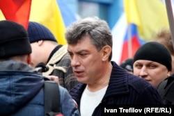 Борис Нємцов на «Марші миру» російської опозиції на підтримку України. Москва, 15 березня 2014 року