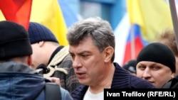 Барыс Нямцоў мітынгу ў Маскве супраць вайны ва Ўкраіне. 15 сакавіка 2014 году