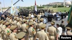 مراسم تشییع مقام های سوری که به دست مخالفان کشته شدند.