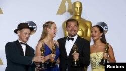 Mark Rylance, Brie Larson, Leonardo DiCaprio və Alicia Vikander