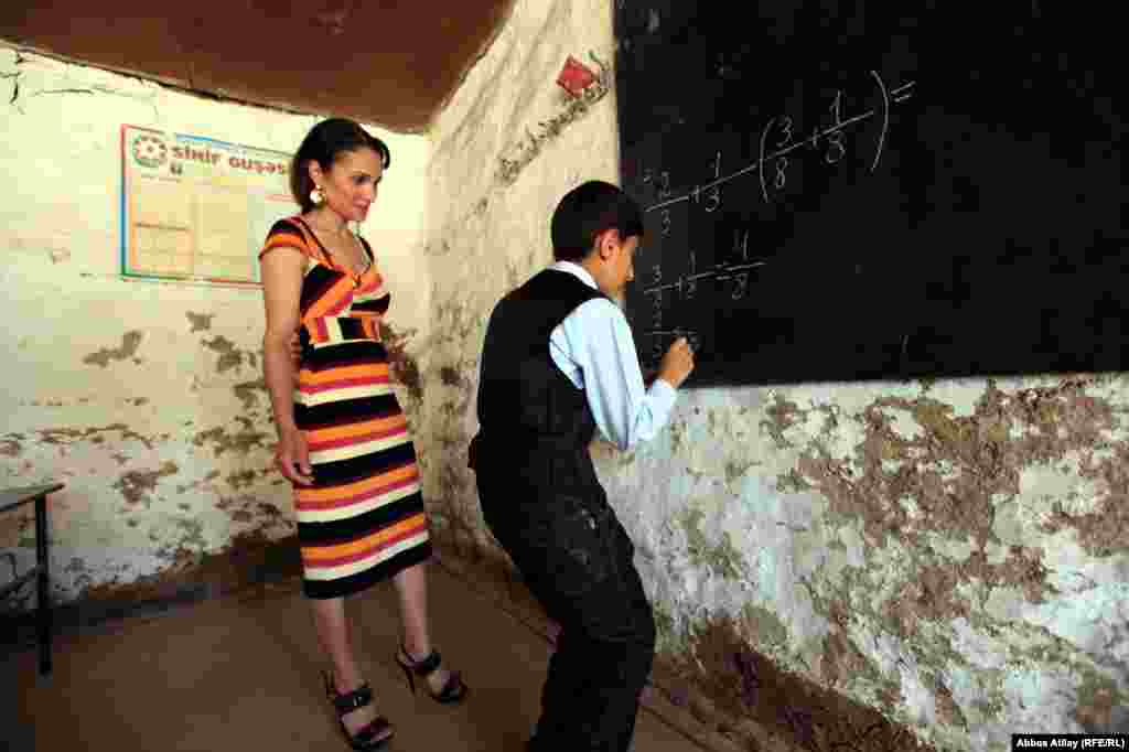 10-year-old Rovsan Qurbanov, from Azerbaijan's Aghsu region, wants to study at university and become a teacher someday.