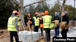 Студенческие отряды участвуют в реконструкции парка Победы, Севастополь