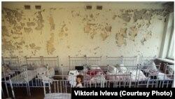 Закінуты дзіцячы садок у чарнобыльскай зоне