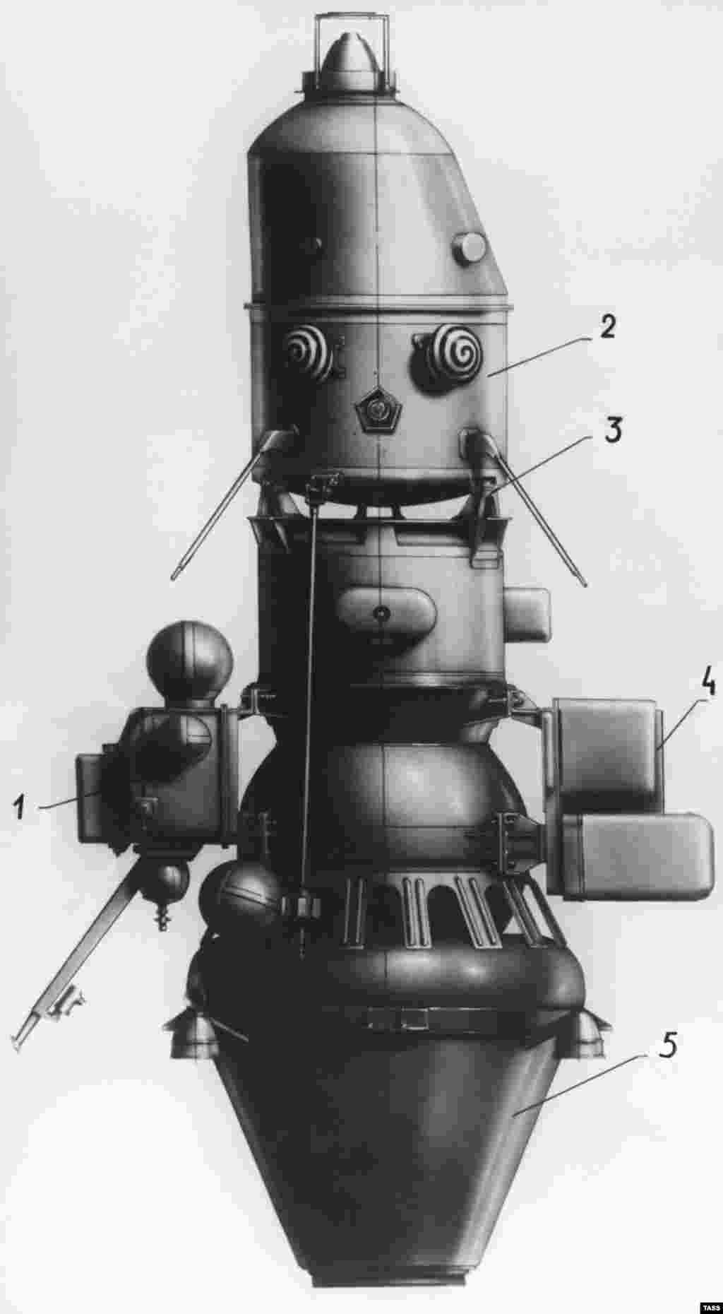 With its horror-clown eyes, the Soviets' Luna-10 was a little unlovable. But its mission marked a significant moment during the space race when, in 1966, it became the first craft to orbit the moon.