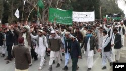 АҚШ сарбазының 16 адамды өлтіргеніне қарсы наразылық шеруі. Ауғанстан, 13 наурыз 2012 жыл.