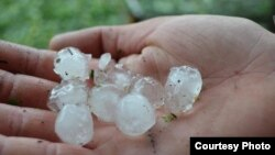 "Aid groups have called the hailstorm ""the largest disaster in Georgia since the August 2008 conflict"" with Russia."