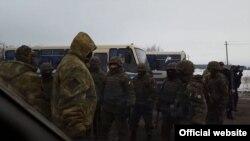 Сутичка між учасниками блокади ОРДЛО та поліцією біля міста Часів Яр, що на Донеччині. 6 лютого 2017 року