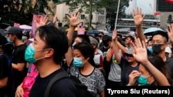 Demonstranti u Hong Kongu