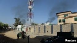 Dim iznad predsedničke palate u Kabulu