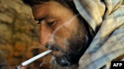 A drug addict in the Afghan city of Herat