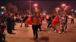 Navijači Albanije na ulicama Tirane
