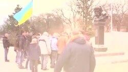 Qarşılıq köstergen Qırım: faaller Rusiye istilâsına qarşı (video)
