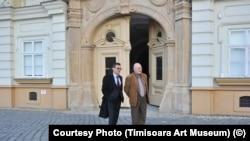 Victor Neuman cu fostul ministru PSD al Culturii, Răzvan Teodorescu