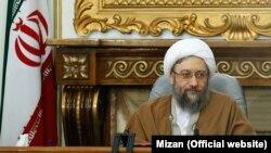 صادق لاریجانی رئیس قوه قضاییه ایران.