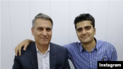 Manouchehr Bakhtyari and Pouya Bakhtyari. Pouya was killed in a protest in Karaj in November 2019.