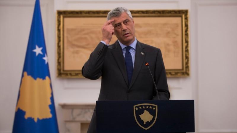 Kosovo's Thaci Sees 'Good Momentum' For Serbia Deal Despite Disputes