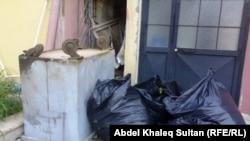 أكياس جمع القمامة في شوارع دهوك