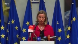 EU Diplomacy Chief Federica Mogherini Reacting to U.S. Withdrawal From Nuclear Deal