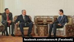 Сергій Аксенов на зустрічі з президентом Сирії Башаром Асадом, Дамаск, 16 жовтня 2018 року