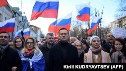Alekszej Navalnij orosz ellenzéki vezető és felesége, Julia, Moszkva (Oroszország), 2020. február 29.