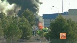 Десять человек погибли при падении греческого истребителя на базе НАТО в Испании