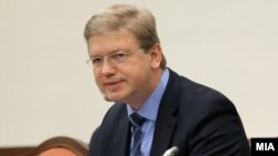 Komisionari për zgjerim i Bashkimit Evropian, Shtefan Fyle.