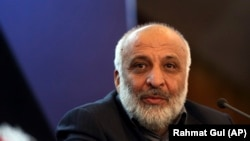 The head of Afghanistan's National Directorate of Security Mohammad Masoom Stanekzai (file photo)